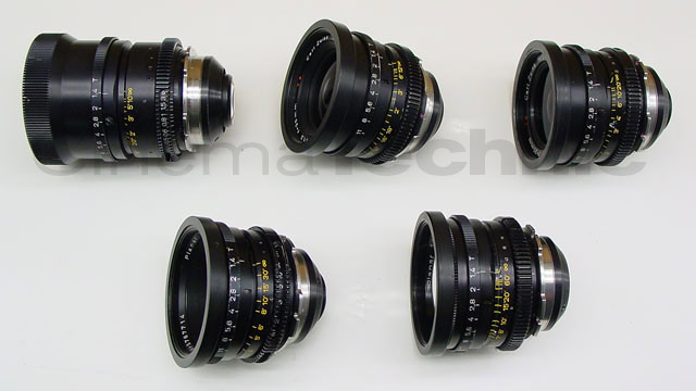 Original Zeiss Super Speed 35mm prime lens set - side view