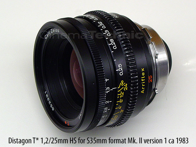 Zeiss Super Speed Distagon 1,2/25mm Super 35 format