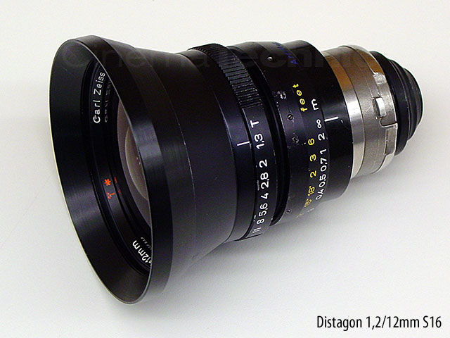 Original Zeiss Super Speed 16mm format 12mm prime lens T1.3