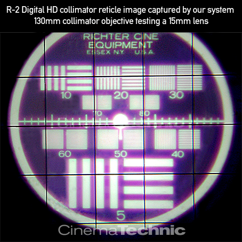 Later style Richter Cine collimator reticle image